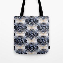 Wrought Iron Trellis Flowers Tote Bag