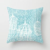 aelwen Throw Pillows featuring Hang in there.  by Elena O'Neill