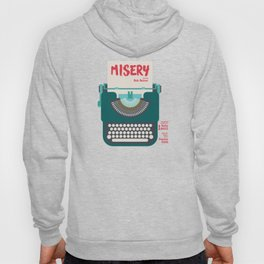 Misery, Horror, Movie Illustration, Stephen King, Kathy Bates, Rob Reiner, Classic book, cover Hoody