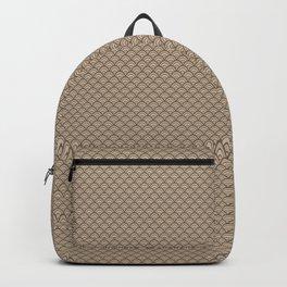 Pantone Hazelnut Small Scallop, Wave Pattern Backpack