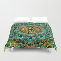 kaleidoscope Duvet Covers featuring Kaleidoscope by Klara Acel