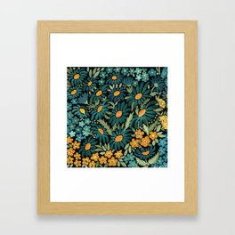 Watercolor . Chamomile field. 2 Framed Art Print