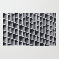 grid Area & Throw Rugs featuring Grid by Cameron Booth