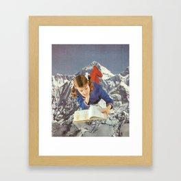 Girl Reading 1 Framed Art Print