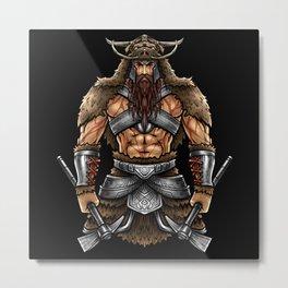 Norseman Berserker | Viking Warrior Valhalla Odin Metal Print