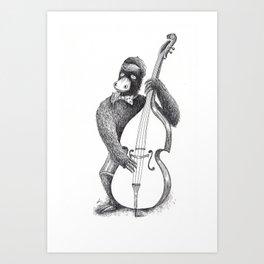 Contra bass 1966 Art Print