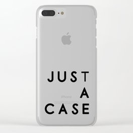 Simple wins typography in white Clear iPhone Case