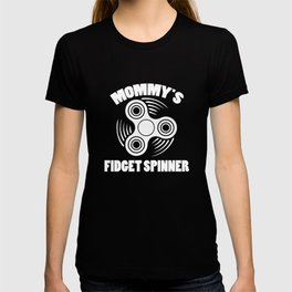 Womens Funny Mommys Fidget Spinner Wine T Shirt T-shirt