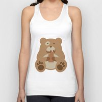 teddy bear Tank Tops featuring Teddy Bear by EinarOux