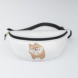 Cute Pomeranian Dog Pet Me Fanny Pack