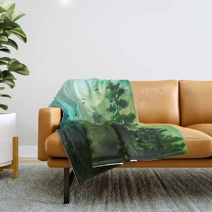 Mountain Morning Throw Blanket