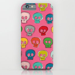sew skully pink iPhone Case