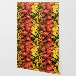 Sunflowers and Gerberas Wallpaper