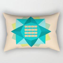 Abstract Lotus Flower - Yoga Print Rectangular Pillow