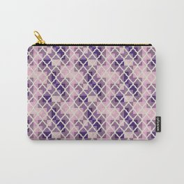 Pink & Purple Quatrfoil Carry-All Pouch