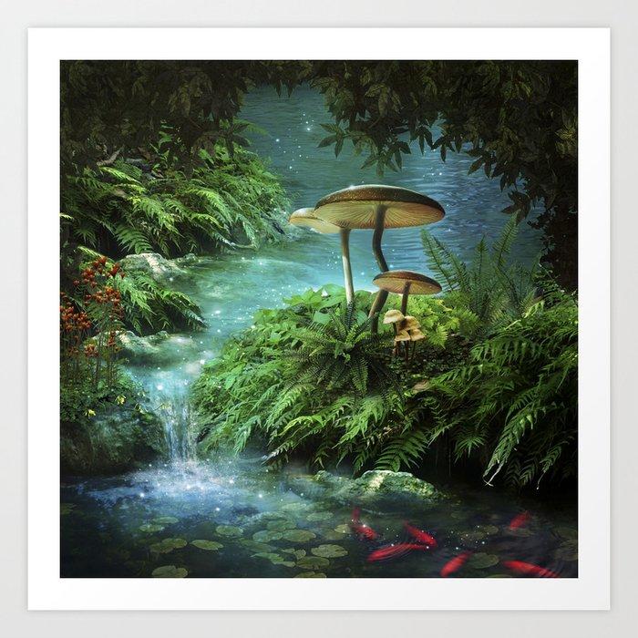 Enchanted Pond Art Print