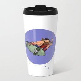 Cruisin Blue Skater Metal Travel Mug