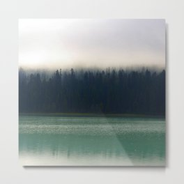 Faded Forest And Lake Metal Print