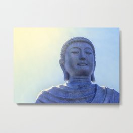 Meditating Buddha Metal Print