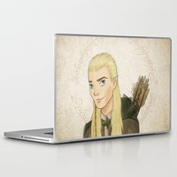 legolas Laptop & iPad Skins featuring Legolas by Joan Pons