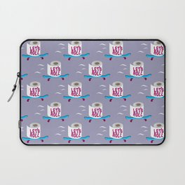 Let's Roll! Grey Laptop Sleeve