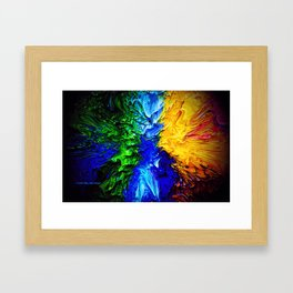 """Gas Flame"" Digital Print Framed Art Print"