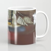 teal Mugs featuring Teal by Holly Cromer