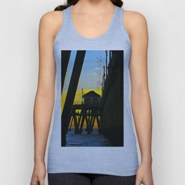 Huntington Beach Pier Sunset     12/1/13  Unisex Tank Top