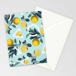 Geometric and Lemon pattern III Stationery Cards