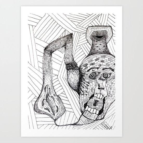 Screaming Face Art Print