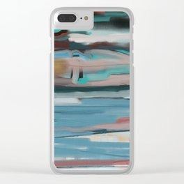 Layered Southwestern Landscape Clear iPhone Case