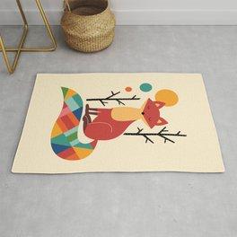 Rainbow Fox Rug