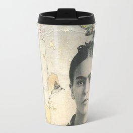 Frida loves flowers Travel Mug