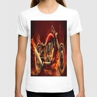 motorbike T-shirts featuring FIRE MOTORBIKE by Acus