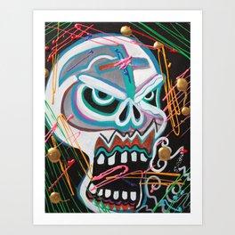 Carnie Skull Art Print