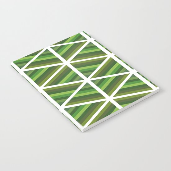Green Stripe Triangles Notebook