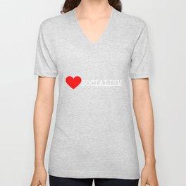 Heart Socialism   Love Socialism Unisex V-Neck