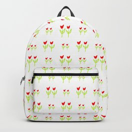 Little flower 7 red and green Backpack