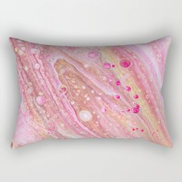 Pink Acrlyic Pour Rectangular Pillow