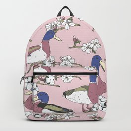 Ducks in bloom Backpack