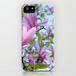 Magnolia trees in bloom  iPhone Case