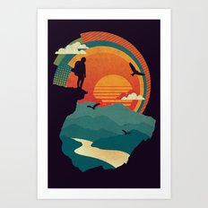 Cliffs Edge Art Print