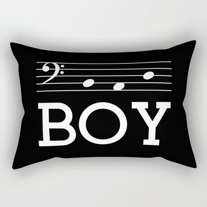 Bad boy (bass clef, dark colors) Rectangular Pillow