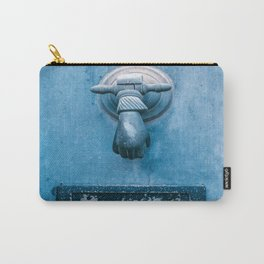 Blue Doorknocker Carry-All Pouch