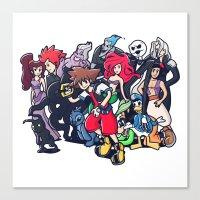 kingdom hearts Canvas Prints featuring Kingdom Hearts by Jaimie Hutton