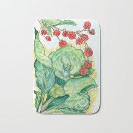 Rhubarb and Raspberries Bath Mat