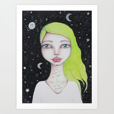 I Am Made of The Stars & the Universe Art Print