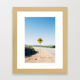 please don't hit the kangaroos Framed Art Print