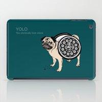 yolo iPad Cases featuring YOLO by Huebucket