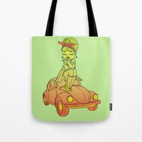 pin up Tote Bags featuring Pin-up  by SilviaBoh